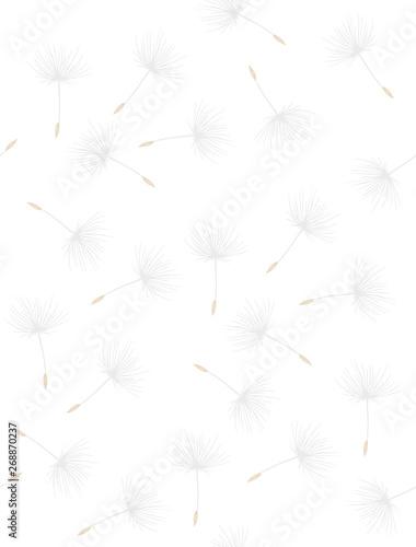 Plakat  Jasnoszare latające nasiona mniszka lekarskiego