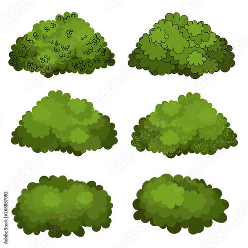 Wallpaper Mural Set of green bushes vector