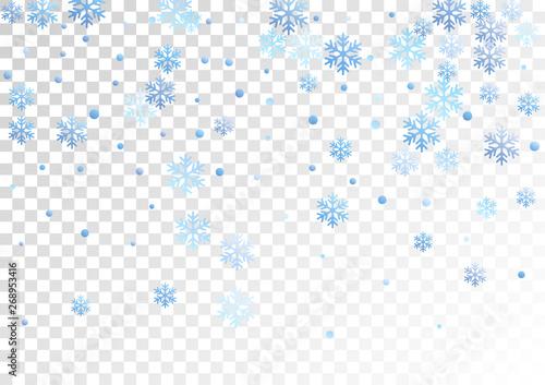 Crystal snowflake and circle shapes vector graphics.