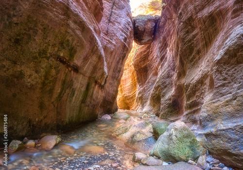 Amazing Avakas gorge, nature landscape, Cyprus Fototapeta