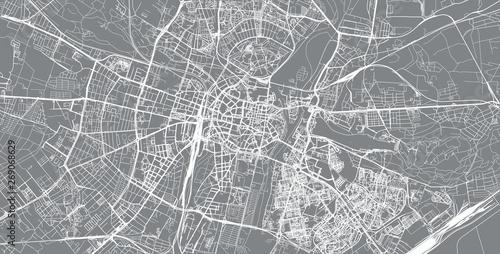 Fotografie, Obraz Urban vector city map of Poznan, Poland