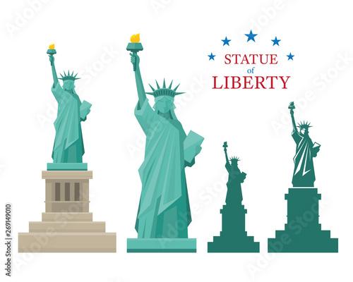 Obraz na płótnie Statue of Liberty, New York, Landmarks, Travel and Tourist Attraction
