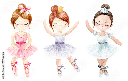 Photo Watercolor ballerina