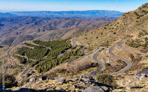 Murais de parede Alto de Velefique in Sierra de Los Filabres, Almeria, Andalusia, Spain