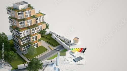 Valokuva Sustainable building mock up