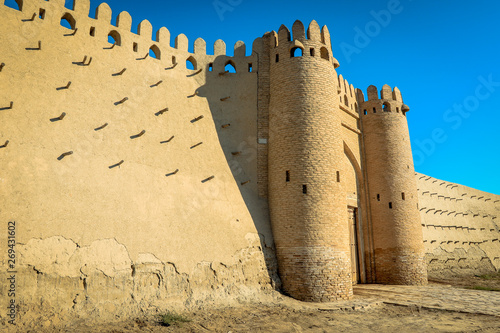 Fotografia Bukhara, Uzbekistan - May 10, 2019: Old Fort Ark in the Old Town