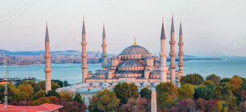 Canvas-taulu The Sultanahmet Mosque (Blue Mosque) - Istanbul, Turkey
