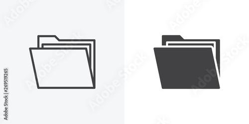 Fotografie, Tablou Open file folders icon
