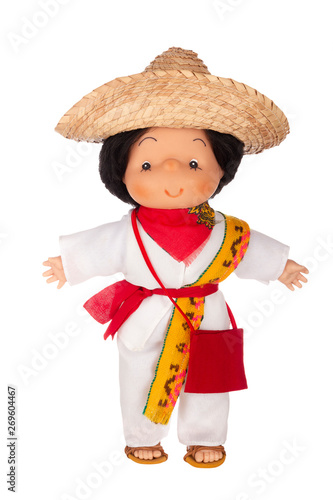 Fotografia, Obraz Doll in traditional Mexican outfit