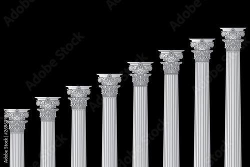 Fotografía a series of Greek, antique, historic colonnades with Corinthian capitals and spa