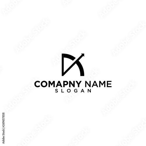 Obraz na płótnie archer logo black and white