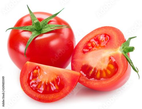 Fotografie, Obraz Fresh tomato on white background