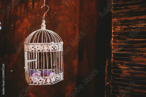 Tablou Canvas bird in cage