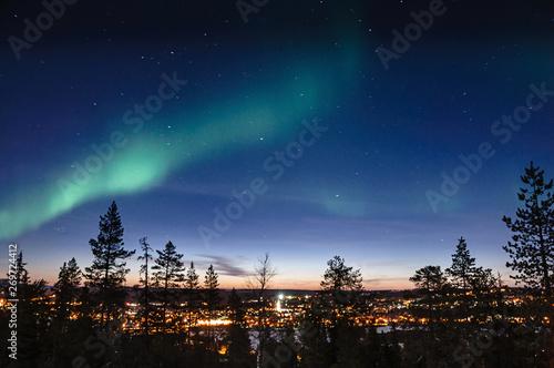 Aurore Boréale Rovaniemi Fototapete