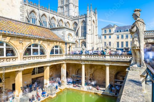 Obraz na płótnie Long exposure view of roman bath in Bath, England