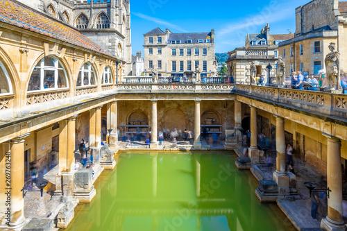 Long exposure view of roman bath in Bath, England Fototapeta