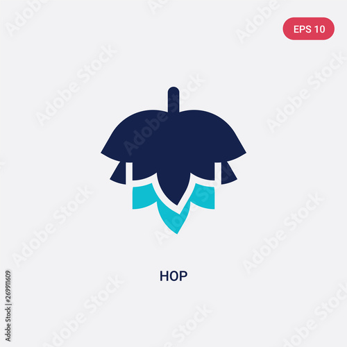 фотография two color hop vector icon from alcohol concept