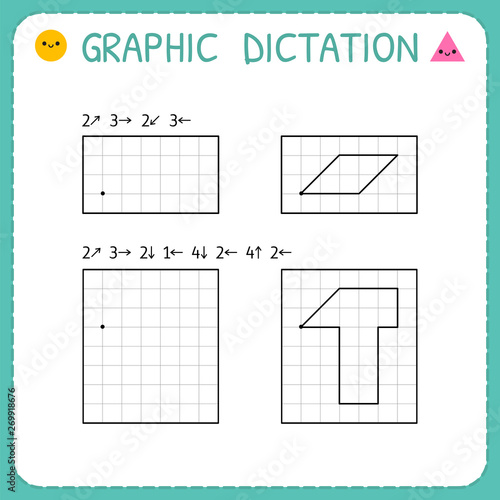 Obraz na płótnie Graphic dictation
