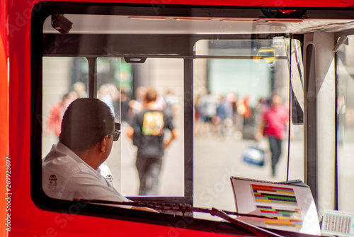 Canvas Print The bus driver