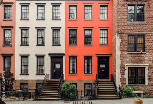 Foto Brownstone facades & row houses  in an iconic neighborhood of Brooklyn Heights i