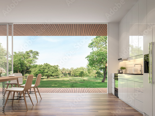 Fotografia Modern dining room 3d render