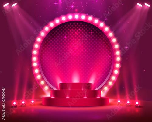 Fotografia Stage Podium Scene with for Award Ceremony