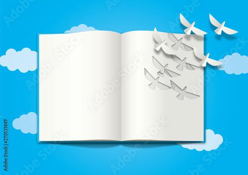 本から鳥 Fototapete
