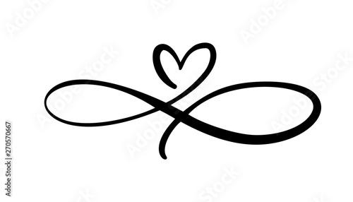 Fotografia, Obraz Love heart In the sign of infinity