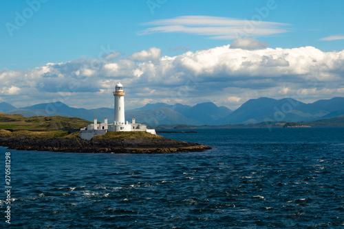 Obraz na plátne Lighthouse on the Isle of Lismore Inner Hebrides Scotland
