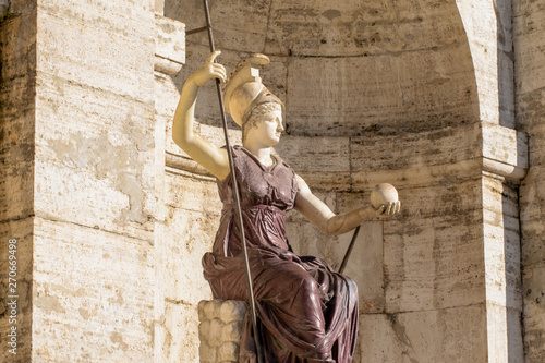 Wallpaper Mural La dea Minerva in front of Senatorial Palace From Rome