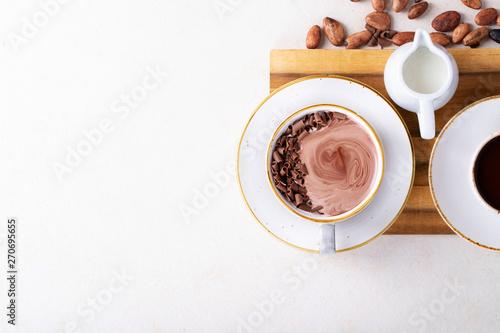 Canvas Print Homemade hot chocolate drink
