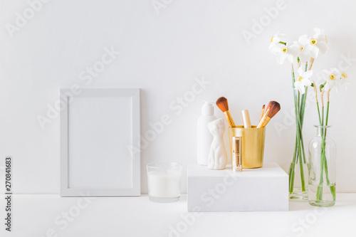 Valokuva Home interior with decor elements