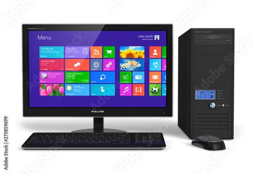 Carta da parati Desktop computer with touchscreen interface