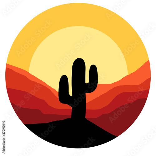Obraz na plátně cactus vector graphic design