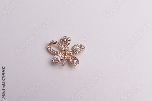Photo brooch-isolated