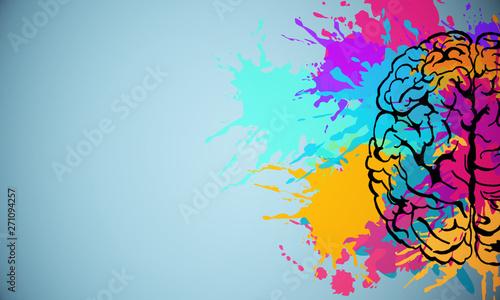 Fotografia Creative brain drawing