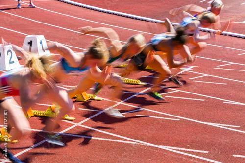 Photo Start beim Sprint in der Leichtathletik