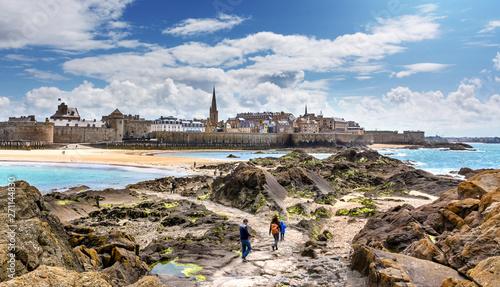 Fotografia Saint-Malo Panorama, Bretagne, Les remparts vu du fort national