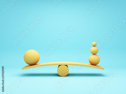 Balancing ball Fototapeta