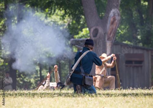 Foto American Civil War Battle Reenactment
