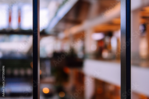 Canvas Print Defocused blurred image of shopping mall.