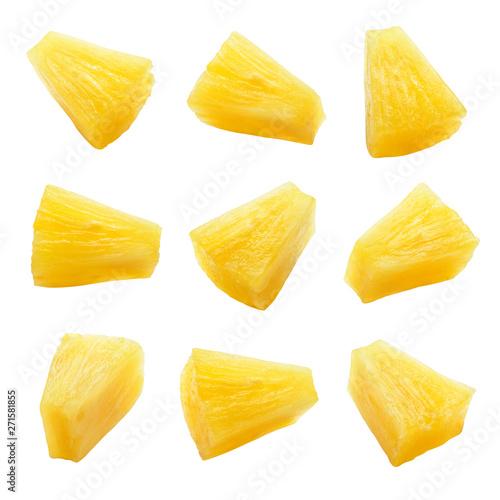 Canned pineapple chunks Fototapeta