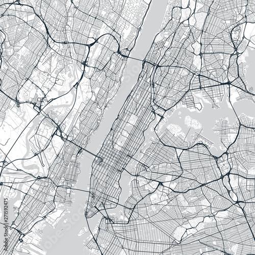 Manhattan map Poster Mural XXL