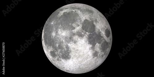 Canvastavla Moon Full black background