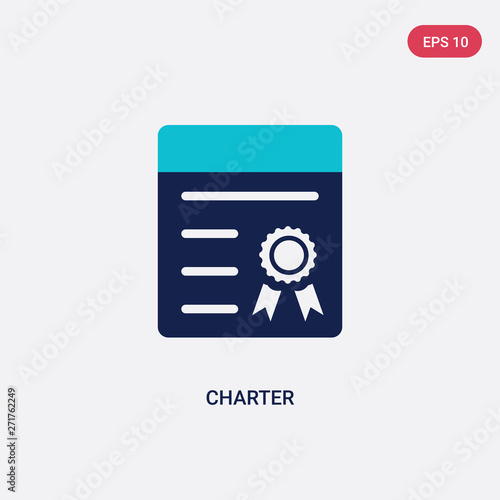 Fotografia two color charter vector icon from delivery and logistics concept