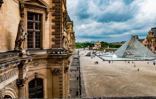 Canvas Print Museu do Louvre vista da janela
