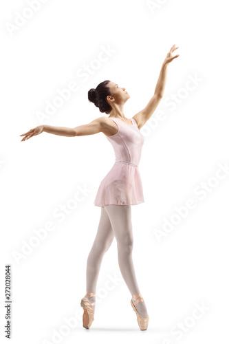 Canvas Beautiful elegant female ballet dancer