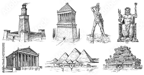 Fotomural Seven Wonders of the Ancient World