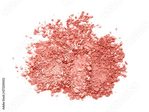 Valokuva Broken coral eyeshadow or blush palette texture
