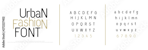 Fototapeta Elegant alphabet letters font